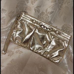 EXPRESS Metallic Gold Wristlet